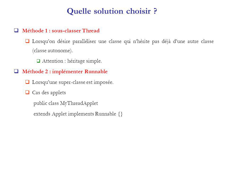 Quelle solution choisir