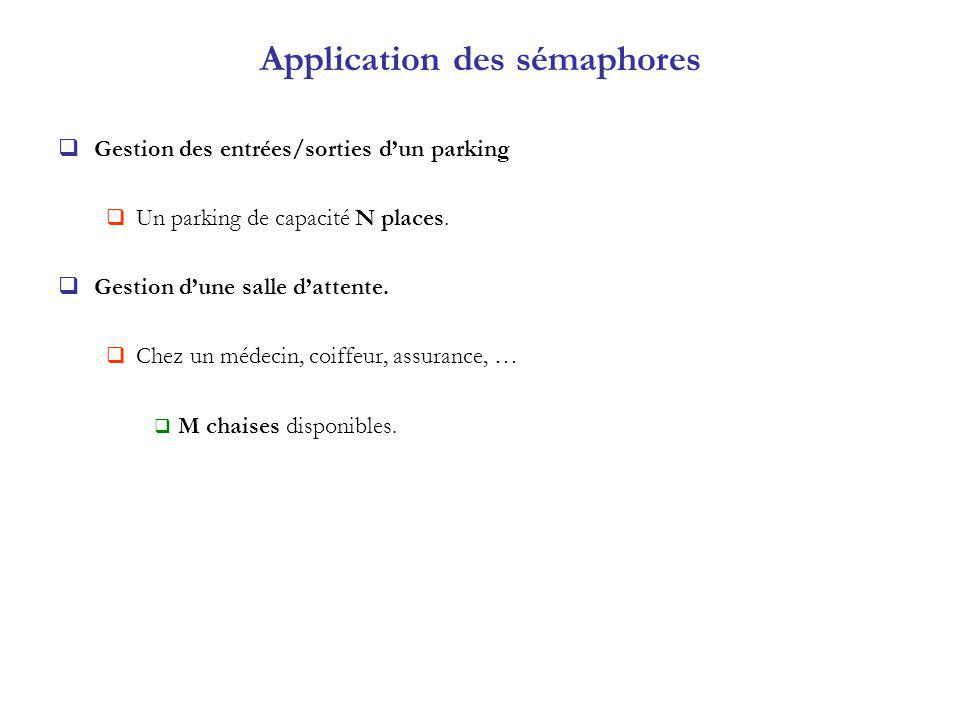 Application des sémaphores