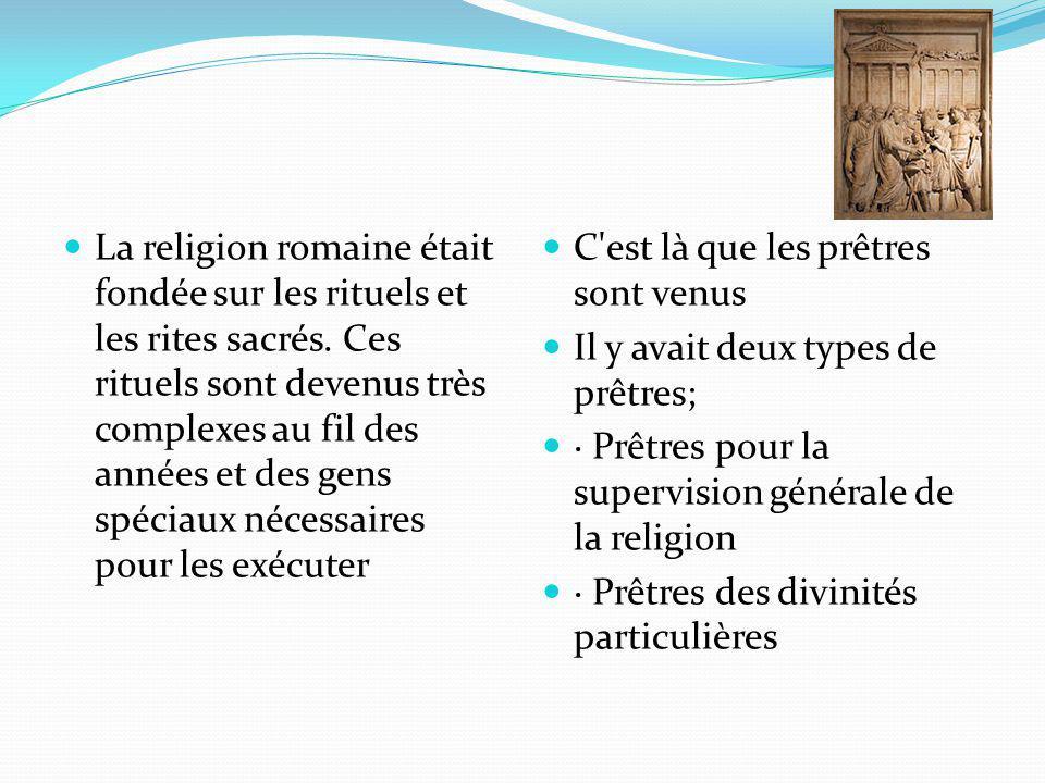 La religion romaine était fondée sur les rituels et les rites sacrés