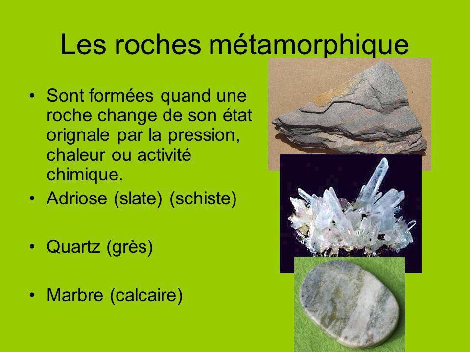 Les roches métamorphique