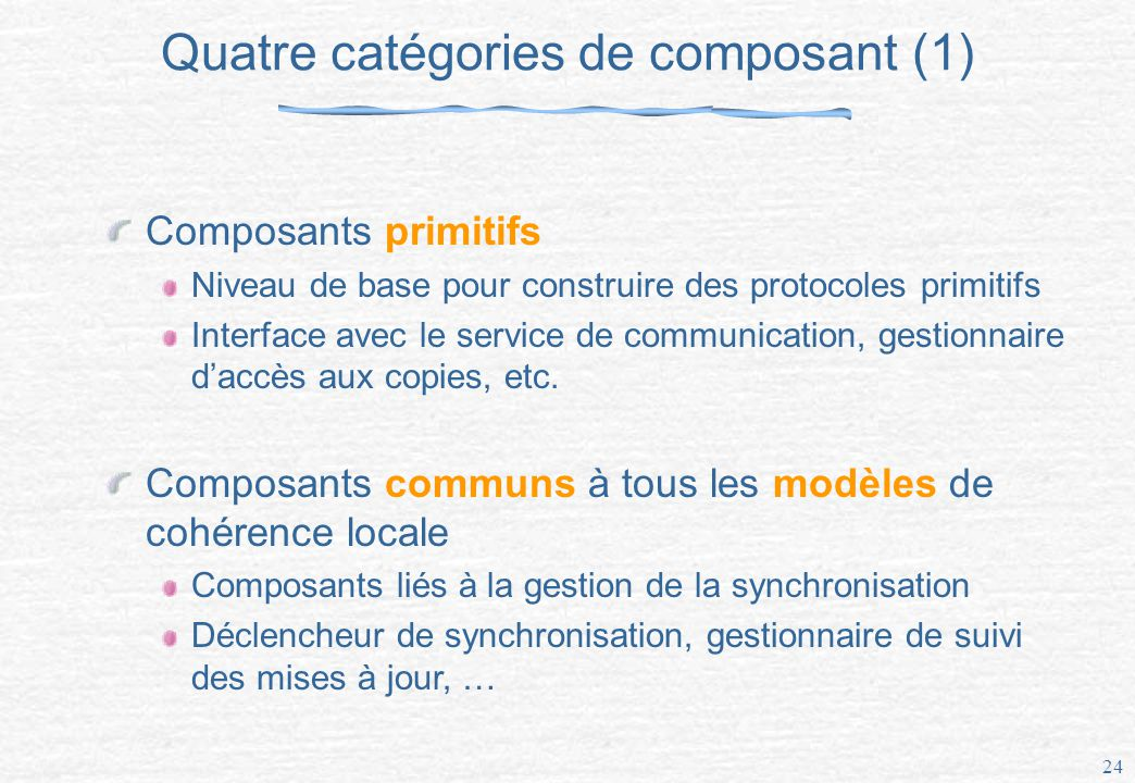Quatre catégories de composant (1)