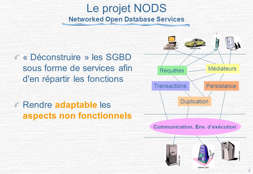Le projet NODS Networked Open Database Services
