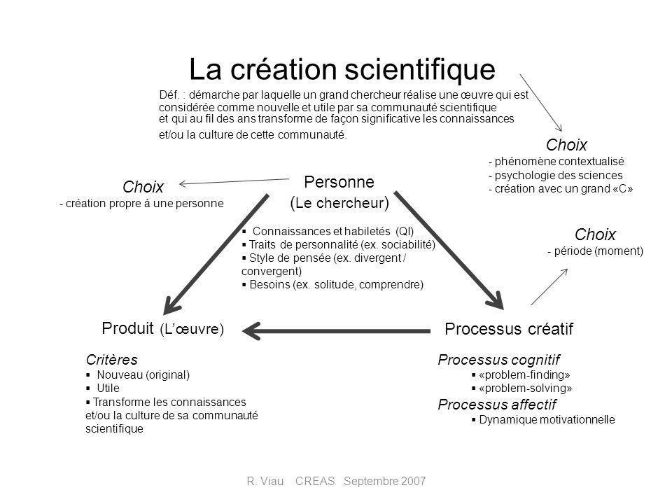 La création scientifique