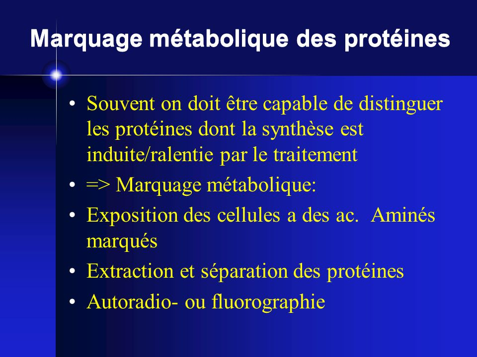 Marquage métabolique des protéines