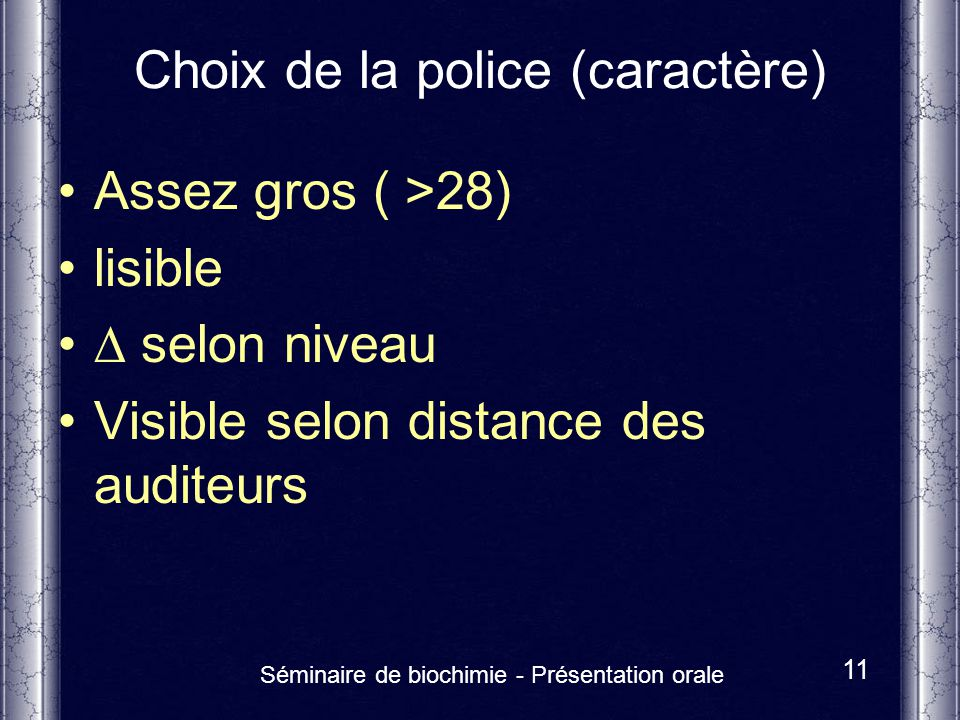 Choix de la police (caractère)