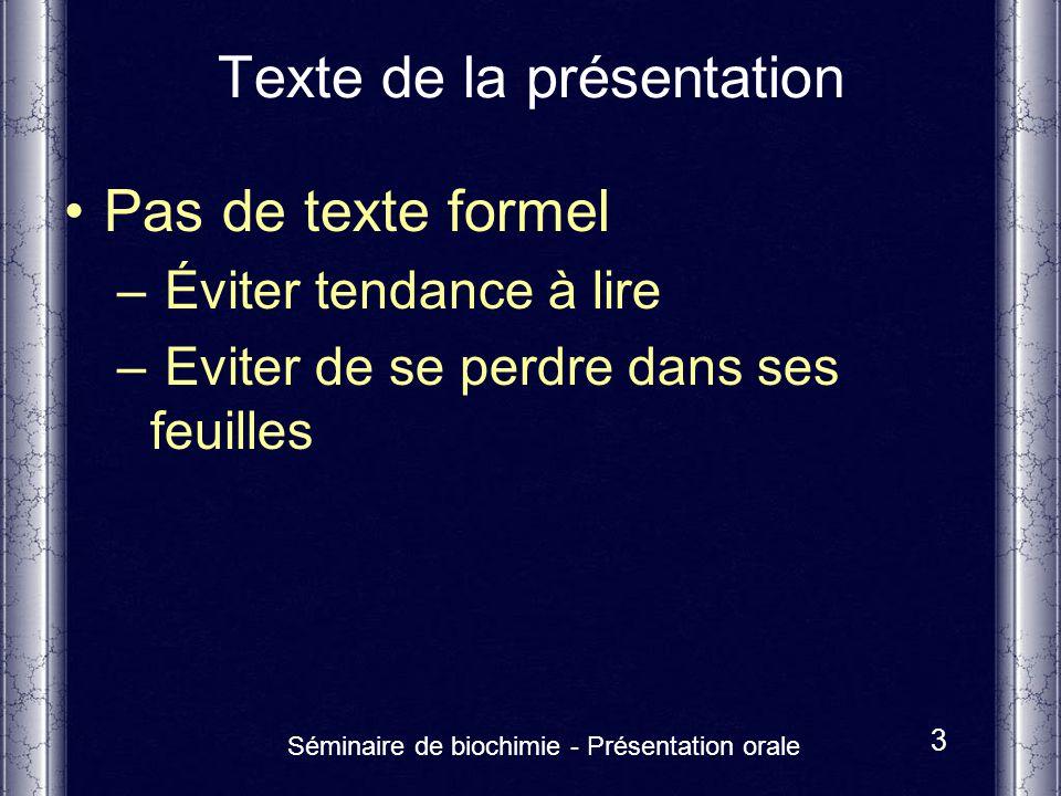 Texte de la présentation