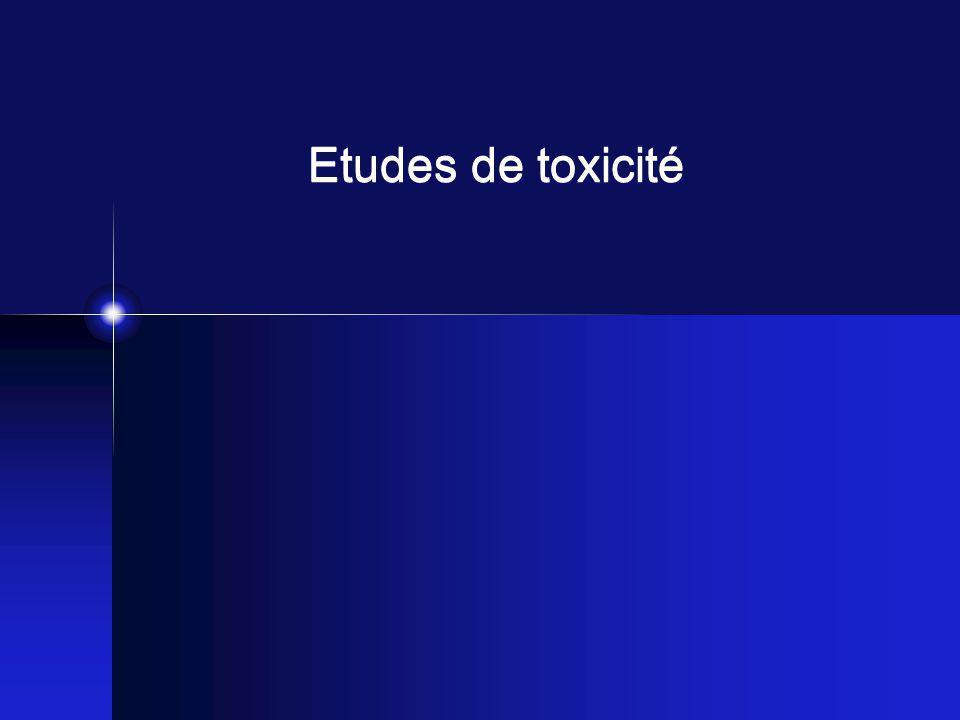 Etudes de toxicité
