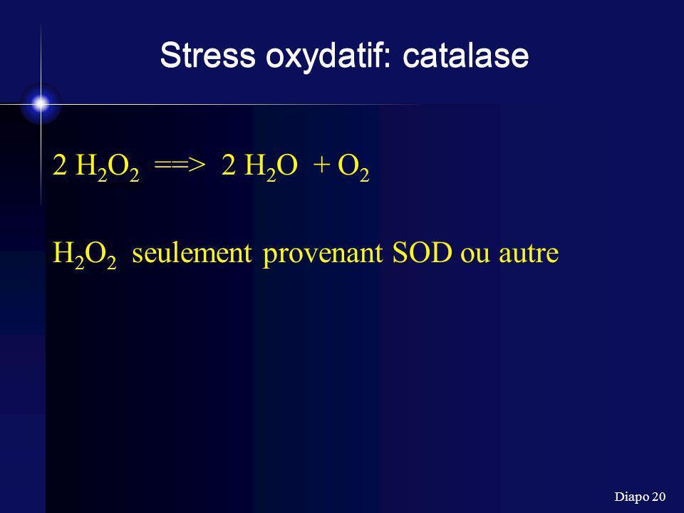 Stress oxydatif: catalase