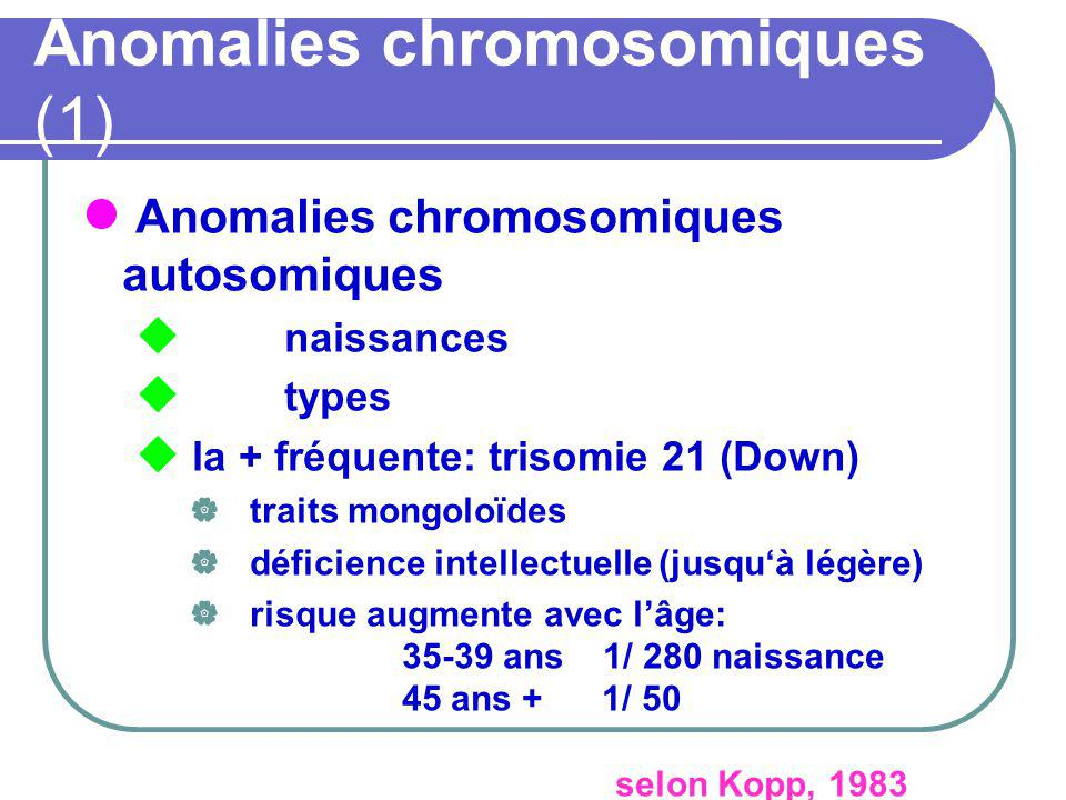 Anomalies chromosomiques (1)