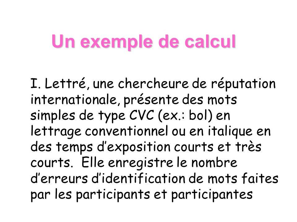 Un exemple de calcul