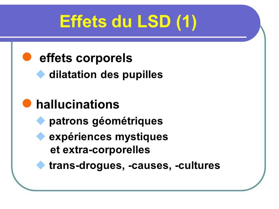 Effets du LSD (1) effets corporels hallucinations