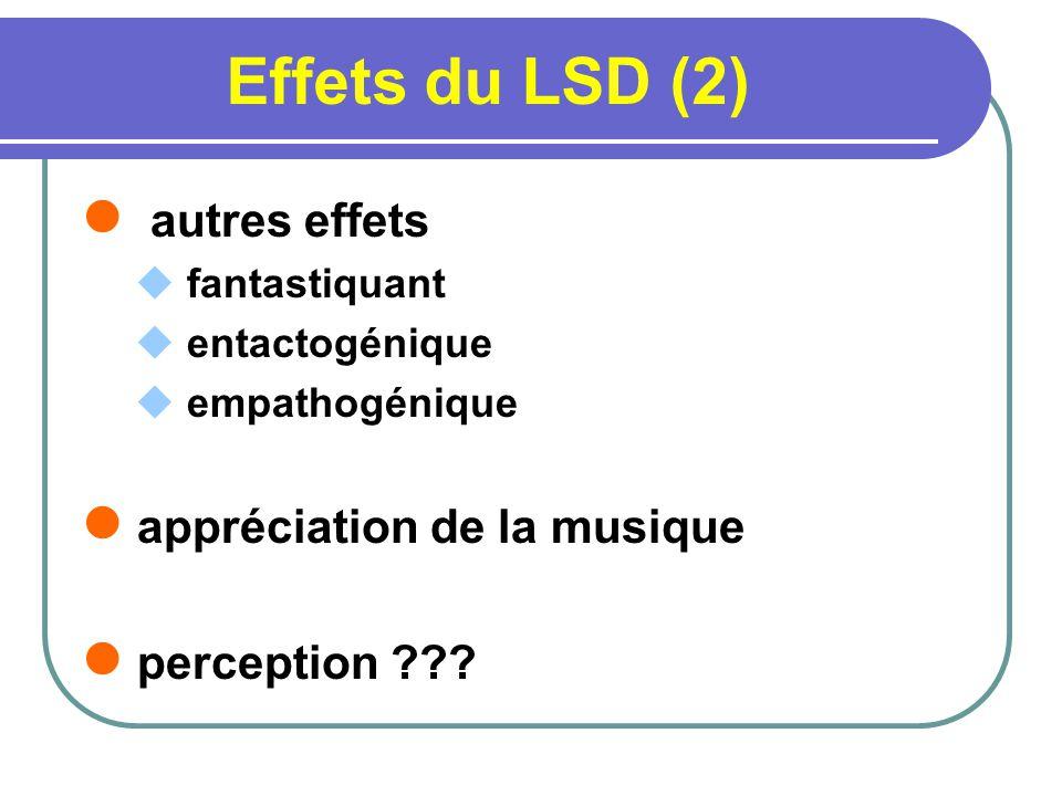 Effets du LSD (2) autres effets appréciation de la musique