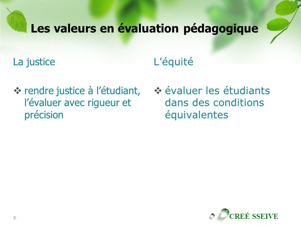 Les valeurs en évaluation pédagogique
