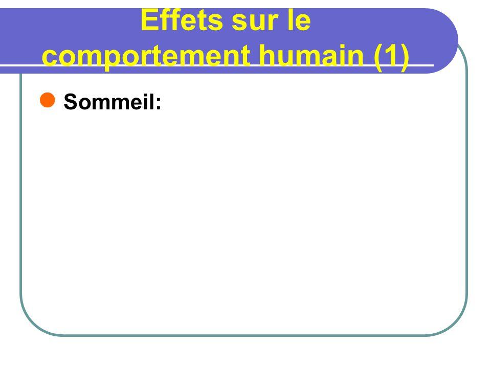 Effets sur le comportement humain (1)