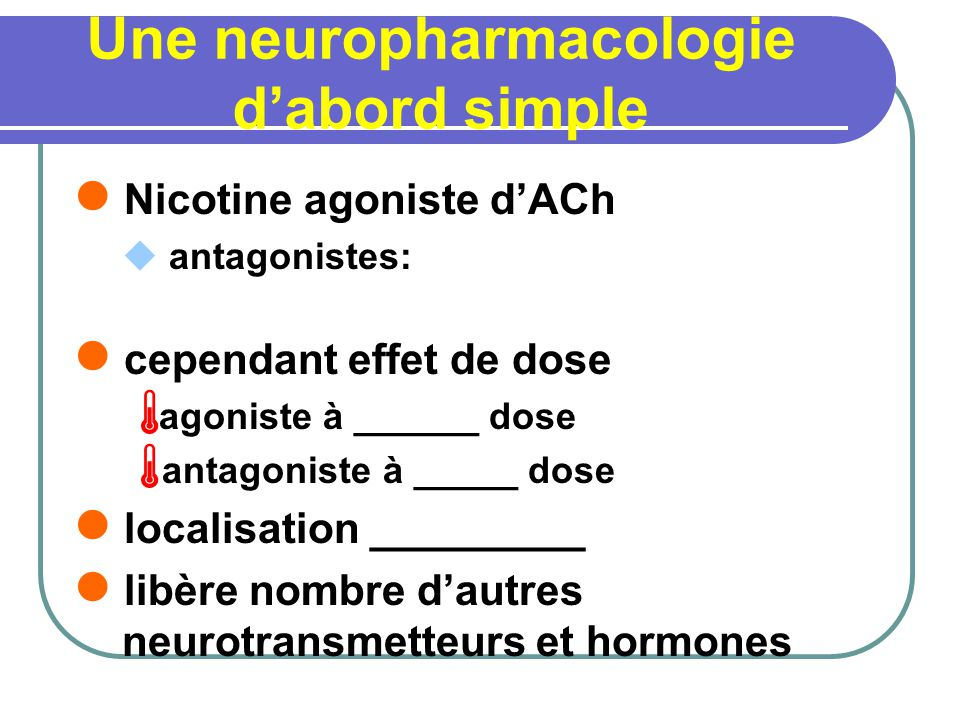 Une neuropharmacologie d'abord simple