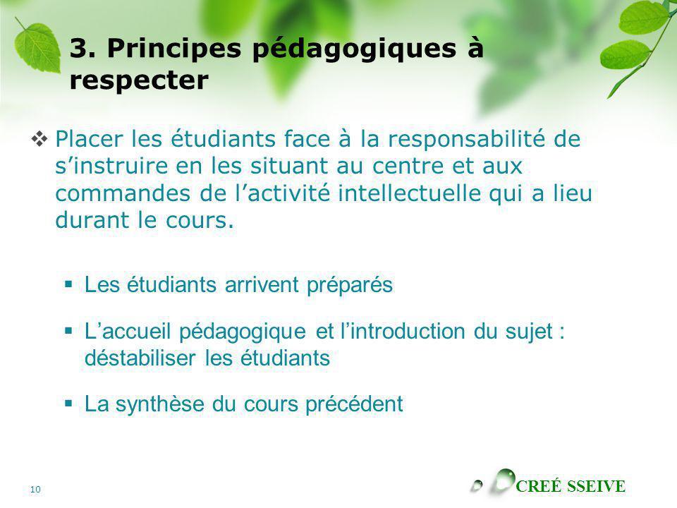 3. Principes pédagogiques à respecter