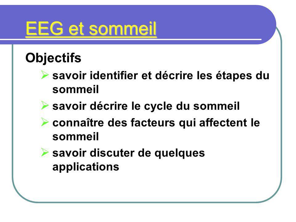 EEG et sommeil Objectifs