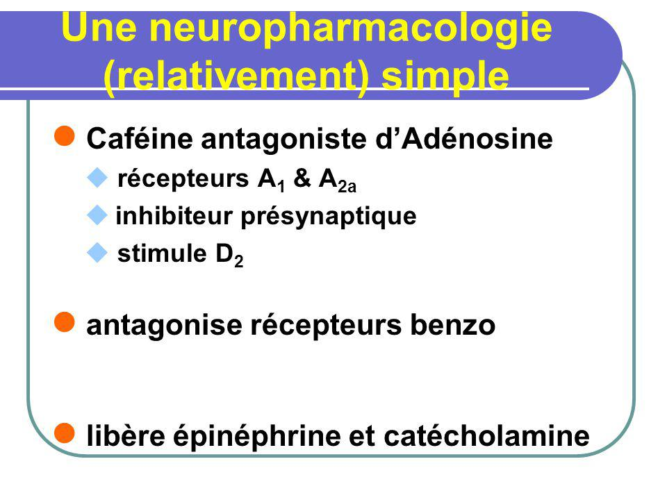 Une neuropharmacologie (relativement) simple