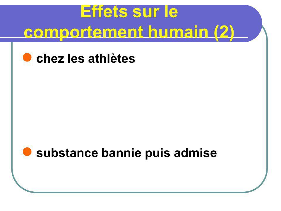 Effets sur le comportement humain (2)