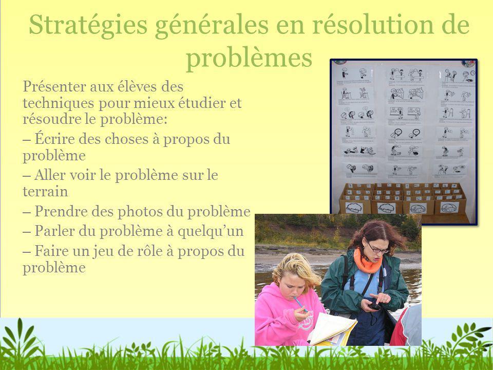 Stratégies générales en résolution de problèmes