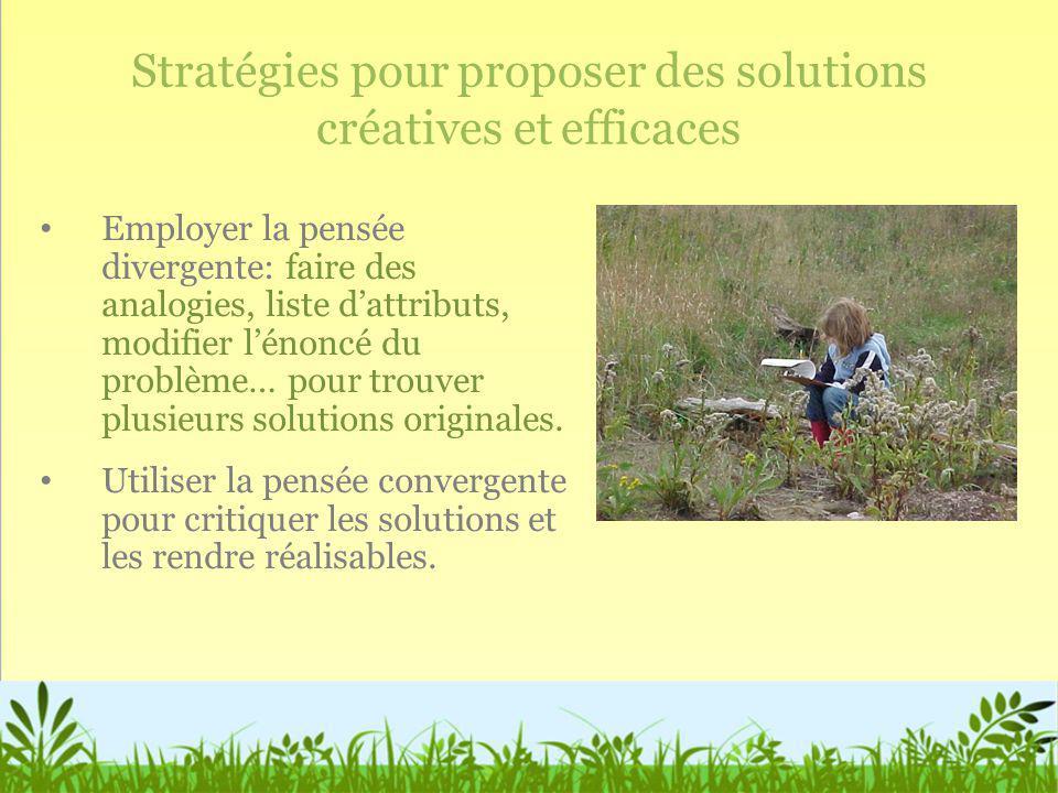 Stratégies pour proposer des solutions créatives et efficaces