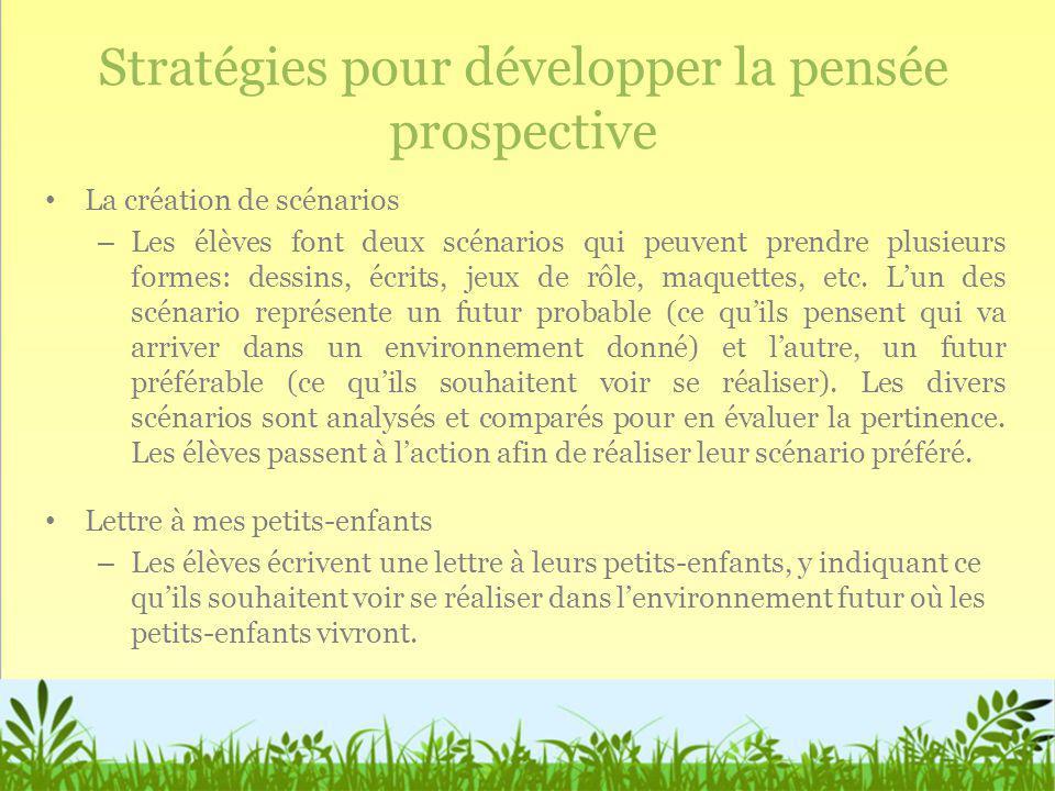 Stratégies pour développer la pensée prospective