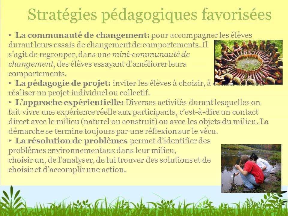 Stratégies pédagogiques favorisées