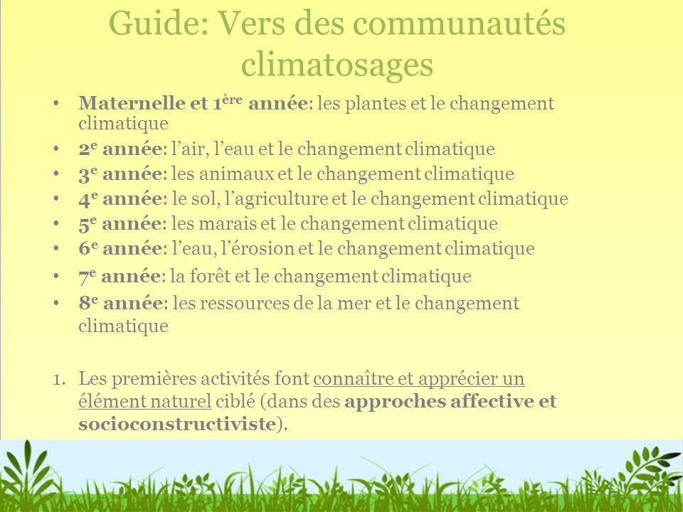 Guide: Vers des communautés climatosages