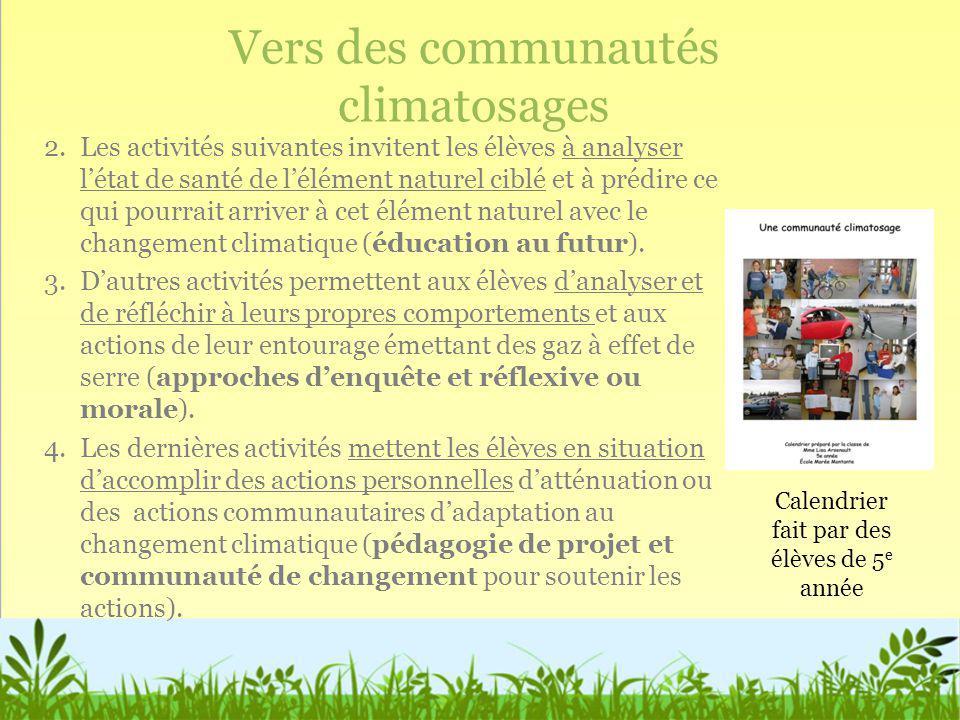 Vers des communautés climatosages