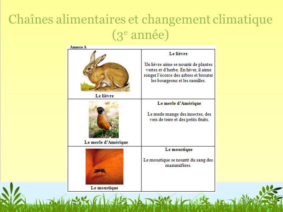 Chaînes alimentaires et changement climatique (3e année)