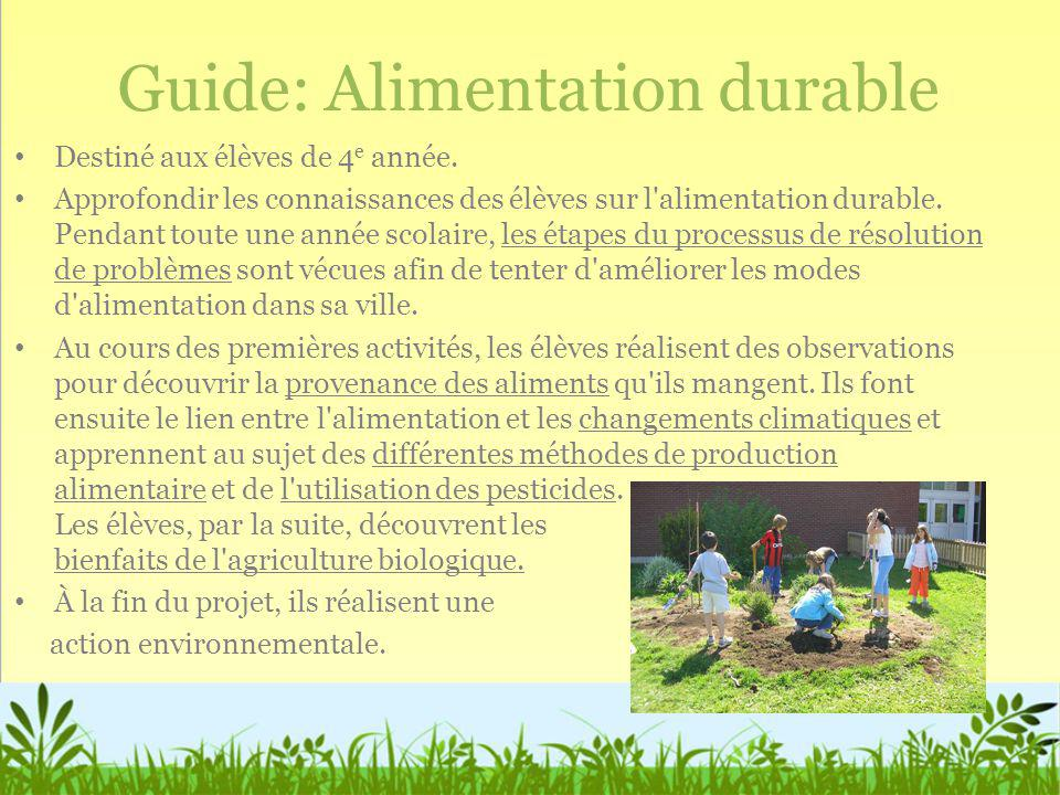 Guide: Alimentation durable