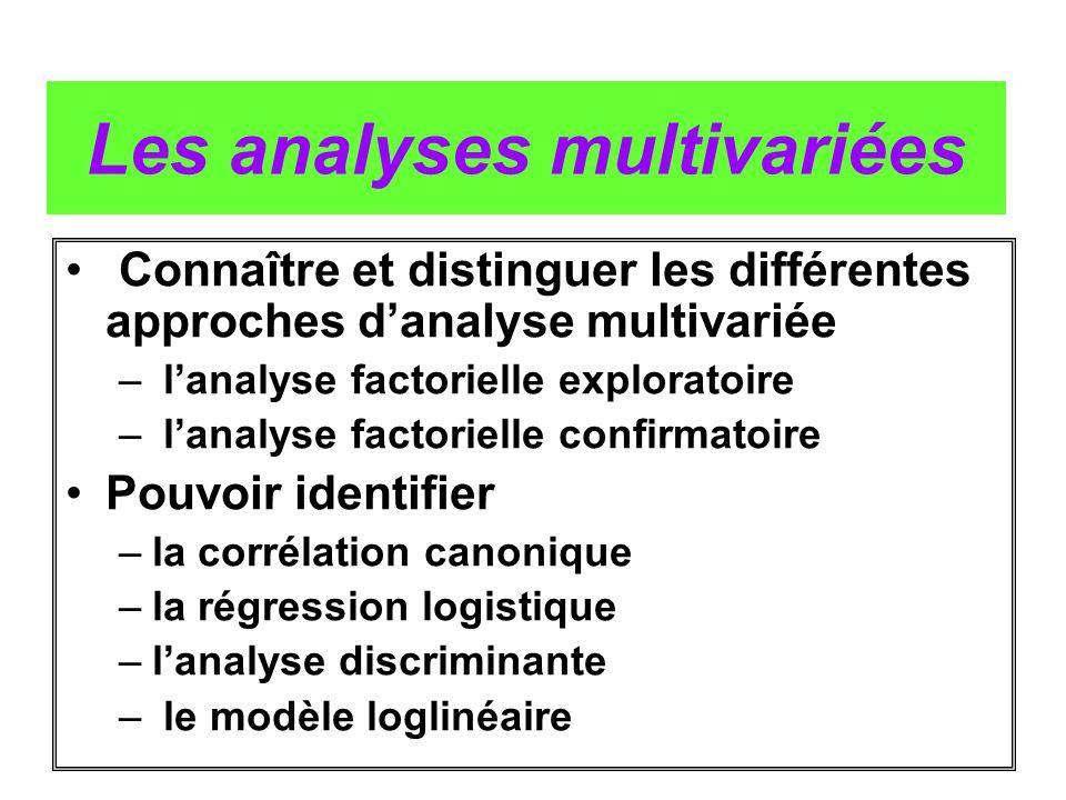 Les analyses multivariées