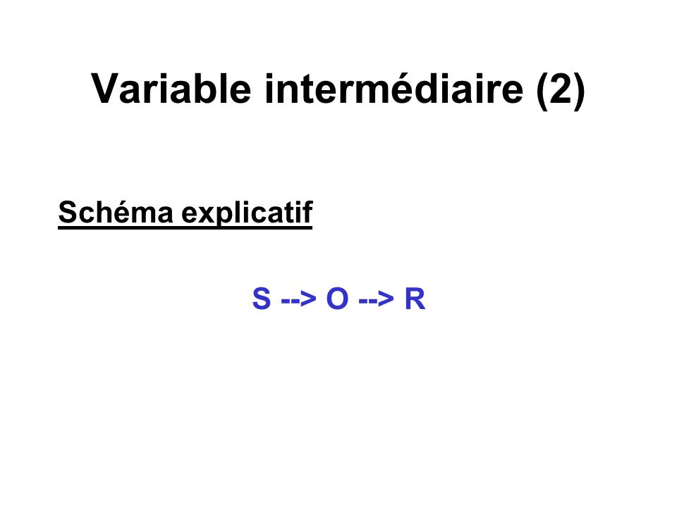 Variable intermédiaire (2)