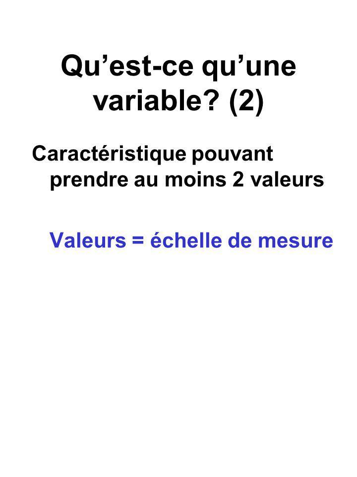 Qu'est-ce qu'une variable (2)
