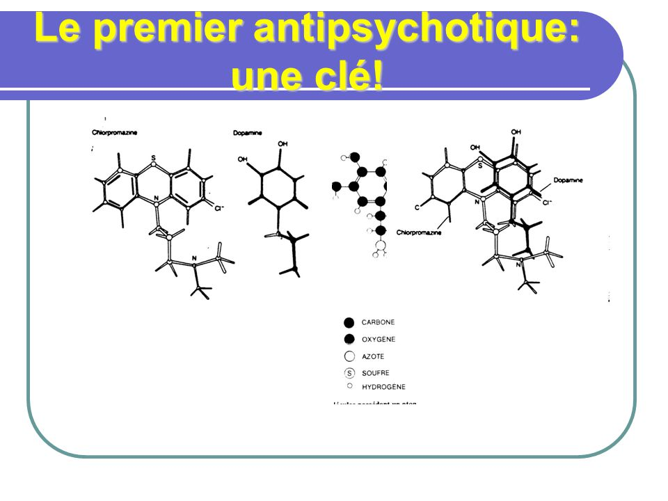 Le premier antipsychotique: une clé!
