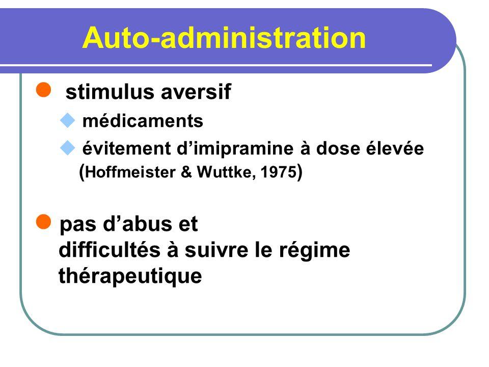 Auto-administration stimulus aversif