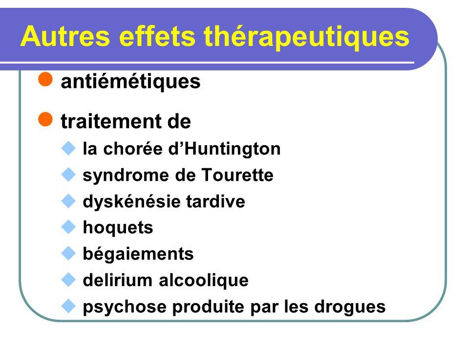 Autres effets thérapeutiques