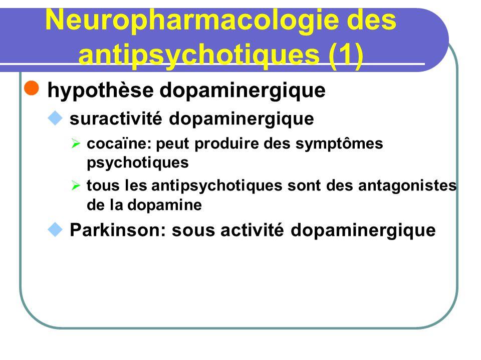 Neuropharmacologie des antipsychotiques (1)