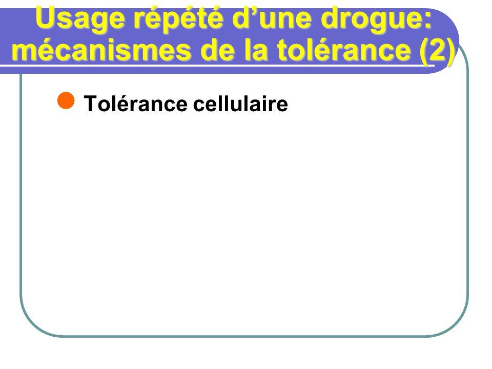 Usage répété d'une drogue: mécanismes de la tolérance (2)