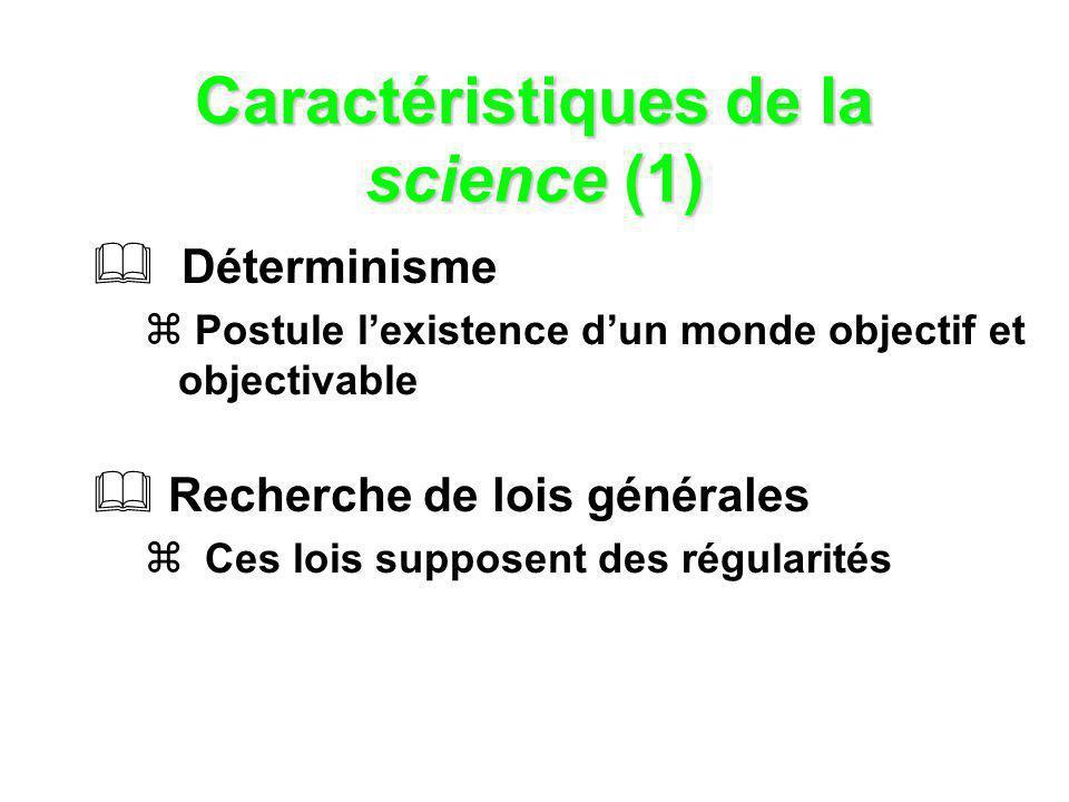 Caractéristiques de la science (1)