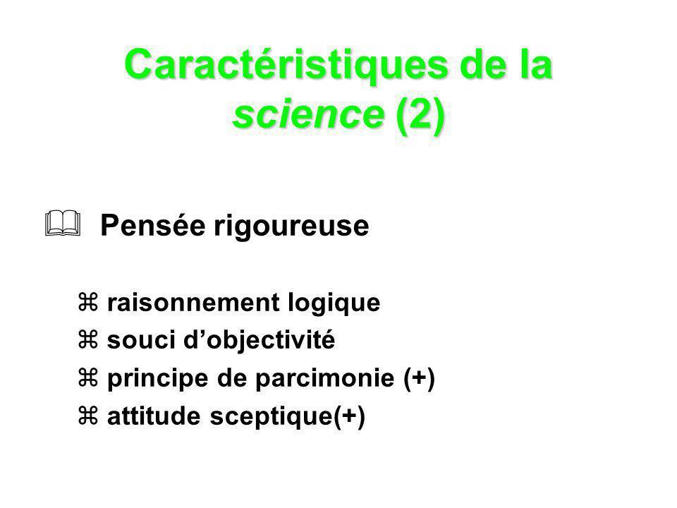 Caractéristiques de la science (2)
