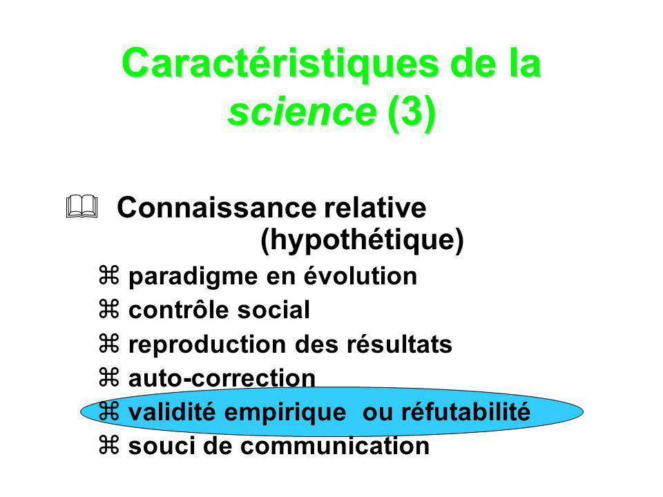 Caractéristiques de la science (3)