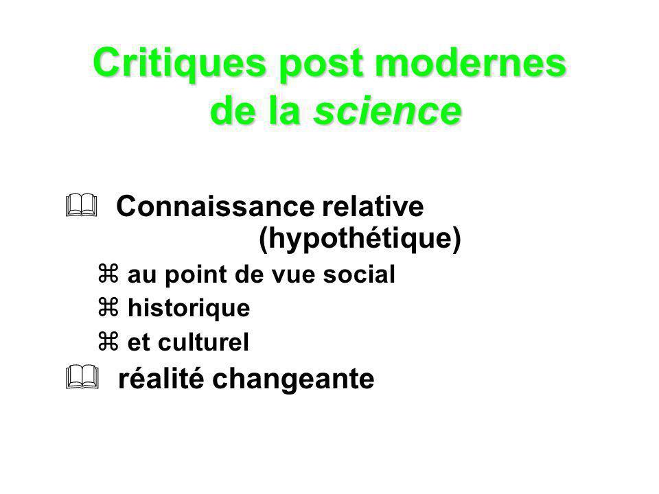 Critiques post modernes de la science