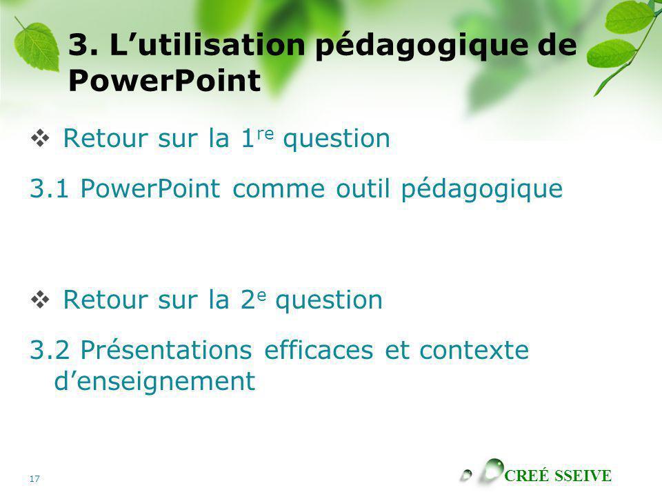 3. L'utilisation pédagogique de PowerPoint