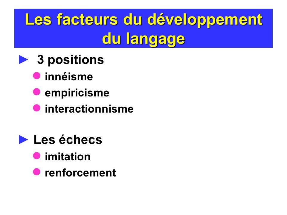 Les facteurs du développement du langage