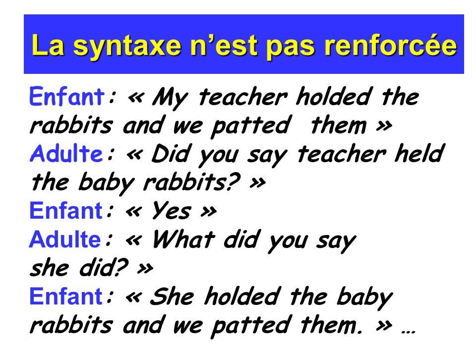 La syntaxe n'est pas renforcée