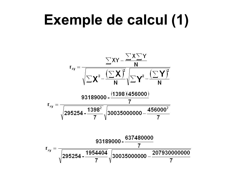 Exemple de calcul (1)