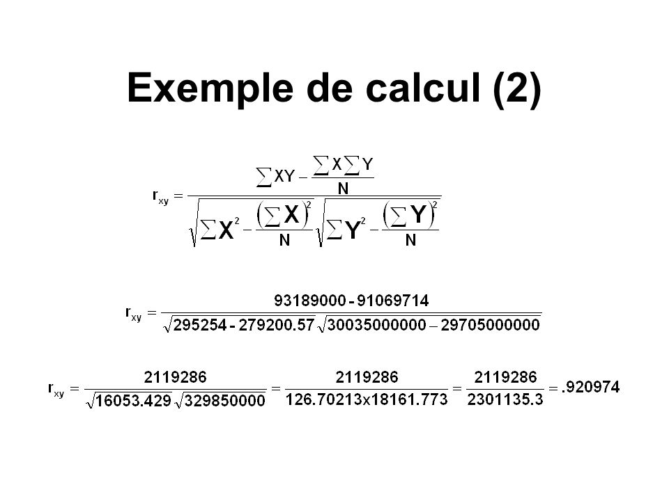 Exemple de calcul (2)