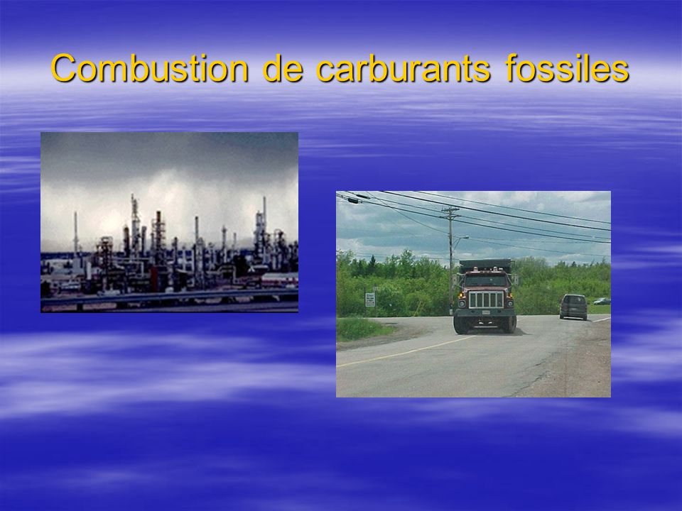 Combustion de carburants fossiles