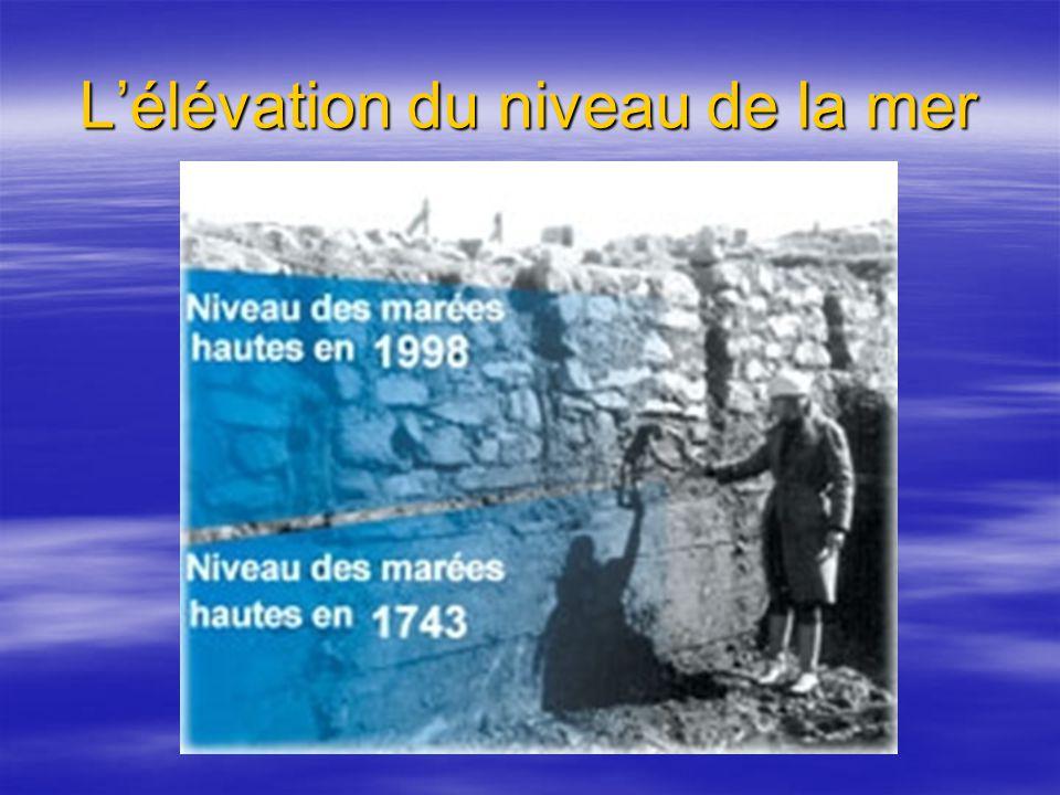 L'élévation du niveau de la mer